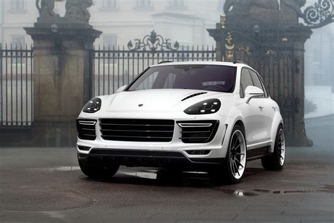 white porsche truck topcar shows white porsche cayenne vantage 2015 kit