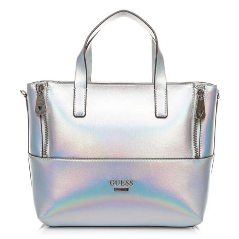 guess me503606 doheny satchel bag for pu silver