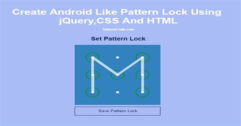 pattern lock jquery create sticky header using jquery and css on talkerscode com