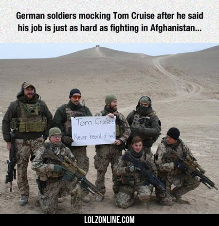 The Germans Welcome Tom Cruise by German Soldiers Mocking Tom Cruise Lolz
