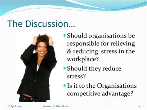 Mba Is Stressful by Work Stress Mba Organisational Behaviour Seminar