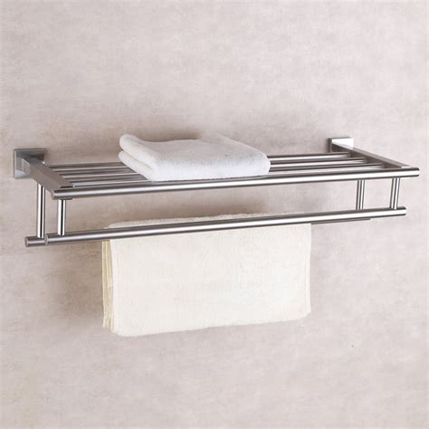Shower Towel Shelf by Bathroom Towel Bar Rack Shelf Storage Shower Wall