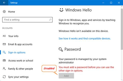 windows 7 reset password greyed out cannot change the password in windows 10 password recovery
