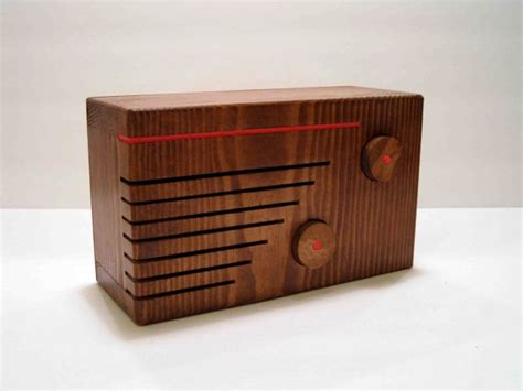 Handcrafted Radio - wooden mp3 speaker and am radio stuff and also things