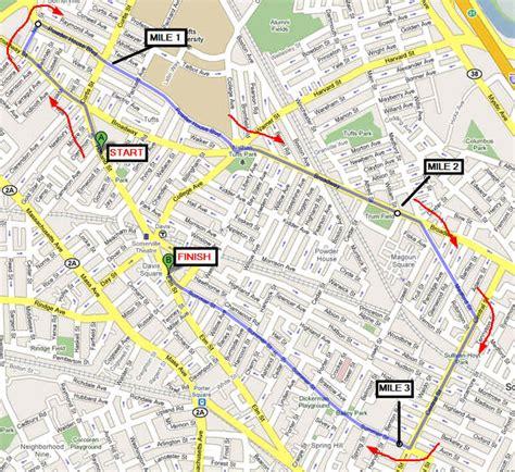 gobble map gobble gobble gobble 4 miler somerville massachusetts