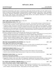 Software Business Analyst Sle Resume by Credit Analyst High Yield Distressed Debt