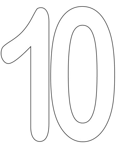 Coloring Page Number 10 by Coloring Pages Of Number 10 педідея Number