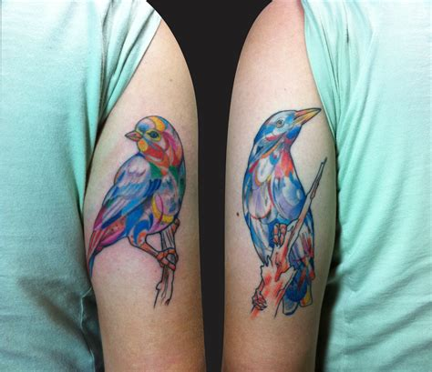 watercolor tattoos birds