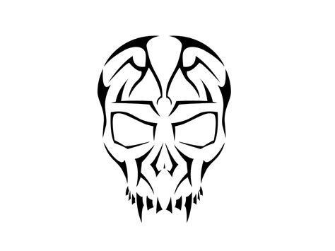 free skull tattoo designs tribal skull clipart
