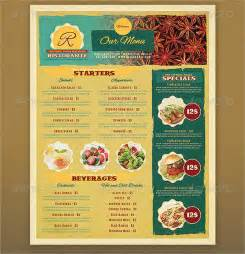 free printable restaurant menu template printable menu template 9 free psd vector ai eps