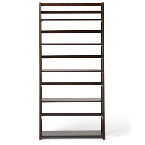simpli home acadian ladder shelf bookcase rich tobacco brown amazon com simpli home acadian ladder shelf bookcase