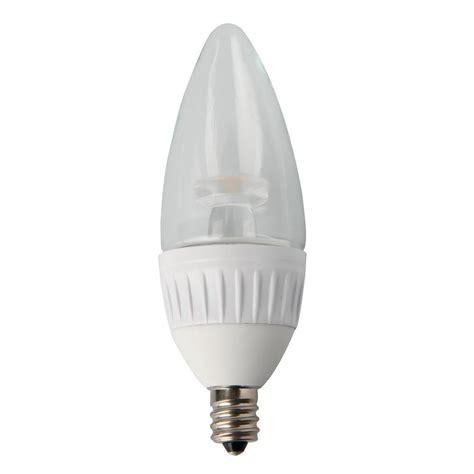 7w Led Light Bulb Luminance 4 7w Equivalent Soft White 2 700k B11 Dimmable Led Light Bulb L7560 1 The Home Depot