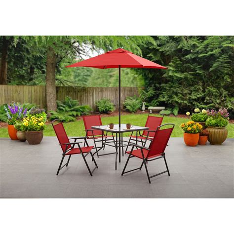 patio set umbrella mainstays heritage park quot x bistro table walmart patio