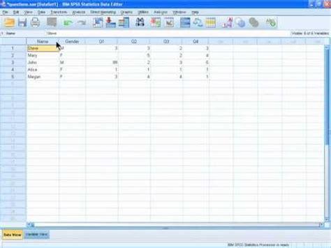 spss tutorial training specifying videolike