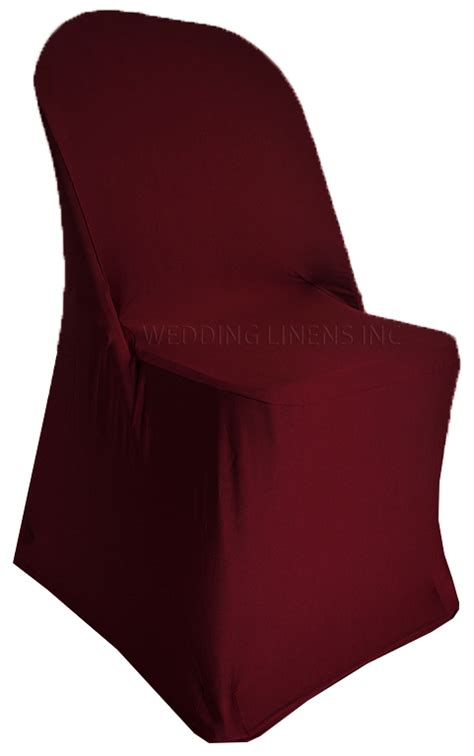 folding burgundy spandex chair cover stretch folding