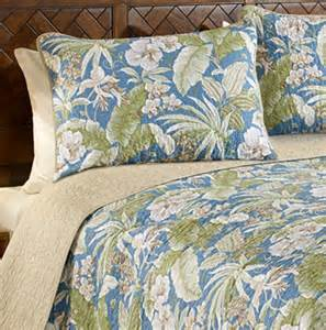 Coverlets Queen Size Full Queen Tommy Bahama Key Largo Pillow Shams