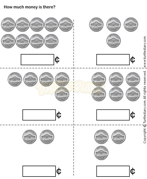 Coin Identification Worksheet by Coin Identification Worksheets For Kindergarten Counting