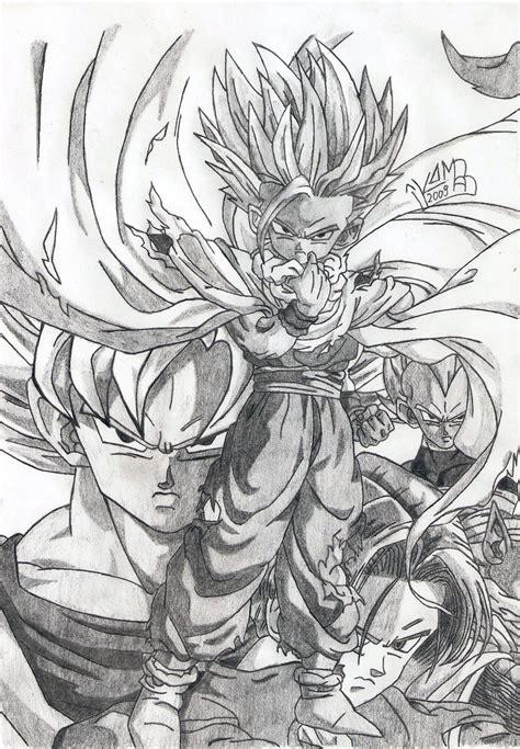 Z Sketches by Dbz Cell Saga By Komar By Koomaar91 On Deviantart