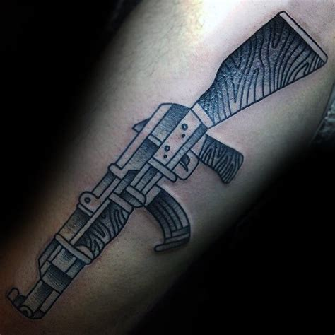 ak 47 tattoo 40 ak 47 designs for an arsenal of ideas