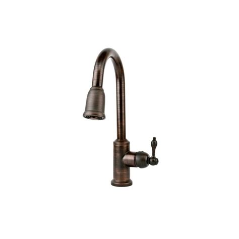 copper kitchen faucets premier copper products k pd01orb single handle kitchen