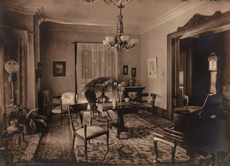 Plantation Style Homes by Victorian Parlor Room Taken Circa 1895 10 Years