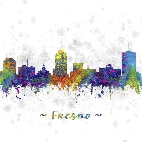 in color fresno fresno california skyline color 03sq digital by aged pixel