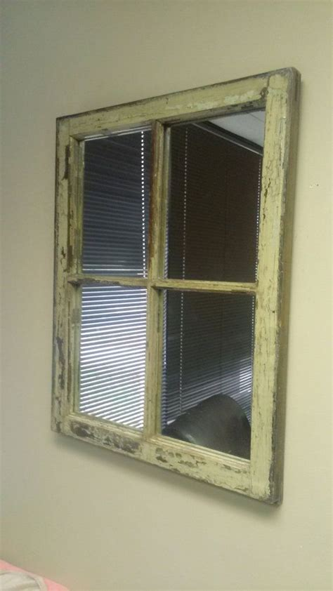 window mirror off white mirror distressed mirror window