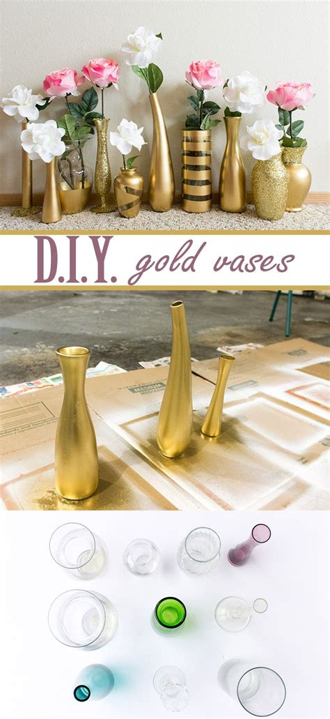 super cheap home decor learn how to create these beautiful gold and glitter vases