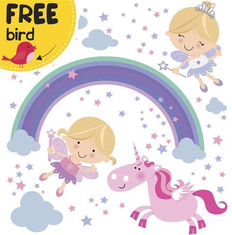 princess unicorn vinyl wall decals for