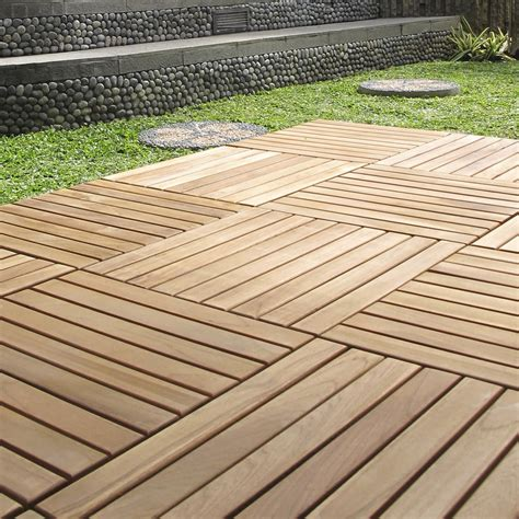terrasse 80 x 40 dalle clipsable bois marron naturel miel l 40 x l 40