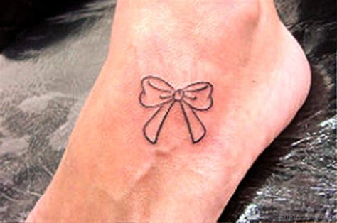 simple tattoo on foot 40 decent bow tattoos on foot