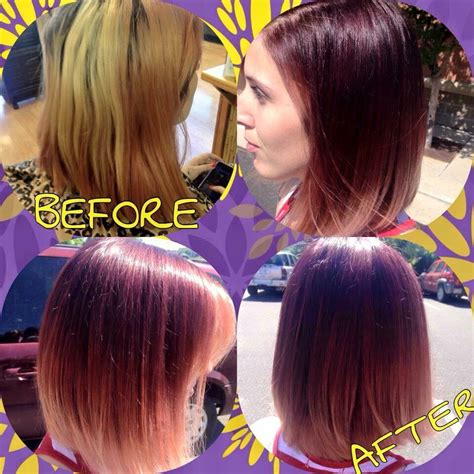 cut before dye hair before and after haircut hair color picture gallery