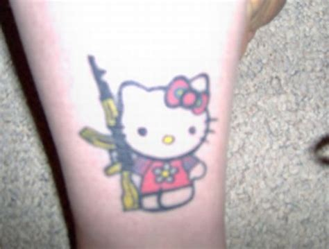 tattoo extreme carbine the hello kitty assault rifle tattoo a treat for hello