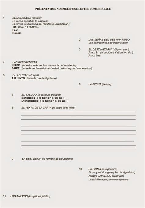Présentation Lettre Espagnol Bts Lettres Commerciales En Espagnol Bts Tertiaire Espagnol Aide Pour Les 233 Preuves 233 Crites Et