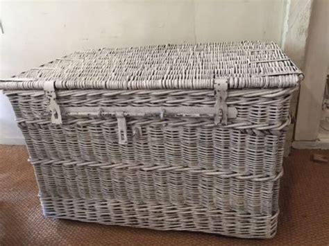 Large Wicker Cane Laundry Basket 460819 Large Wicker Laundry