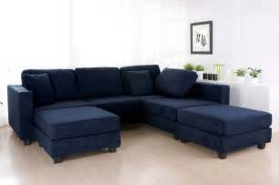 Microfiber Sectional With Chaise Navy Blue Sectional Sofa Design Options Homesfeed