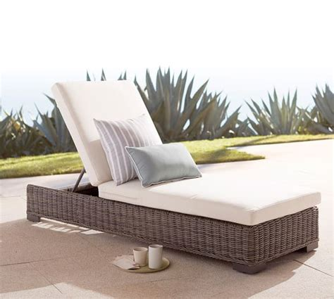 chaise pottery barn huntington all weather wicker single chaise pottery barn