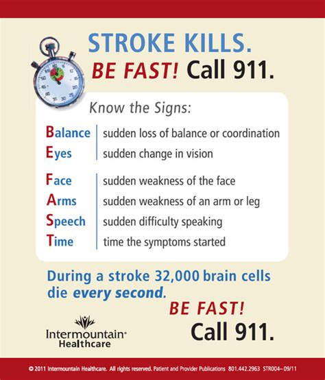 signs of a stroke in a be prepared the signs of a stroke intermountain healthcare