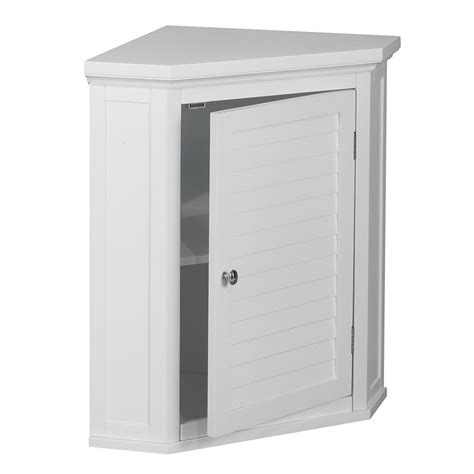 1 Door Corner Wall Cabinet In White Elg 587 Corner Cabinet Door