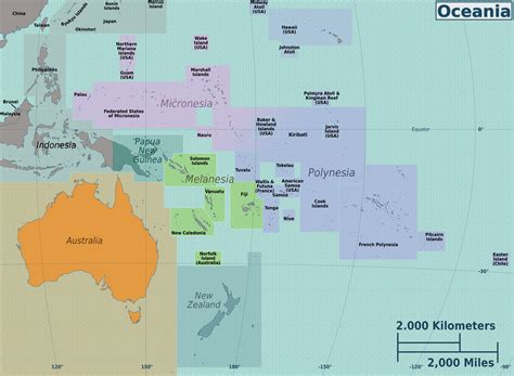 map of oceania countries maps of australia and oceania and oceanian countries