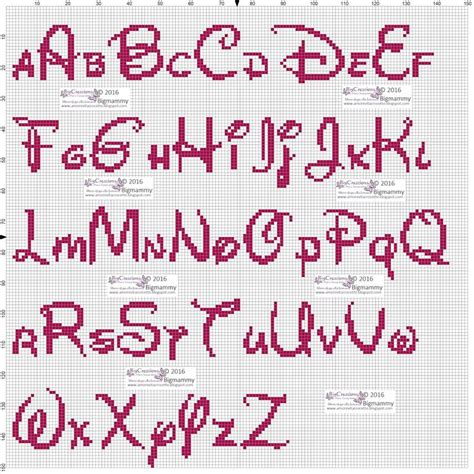 lettere disney punto croce oltre 25 fantastiche idee su alfabeto disney su