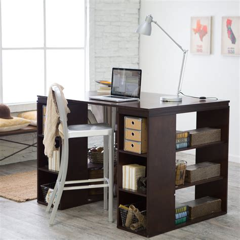 belham living sullivan counter height desk espresso