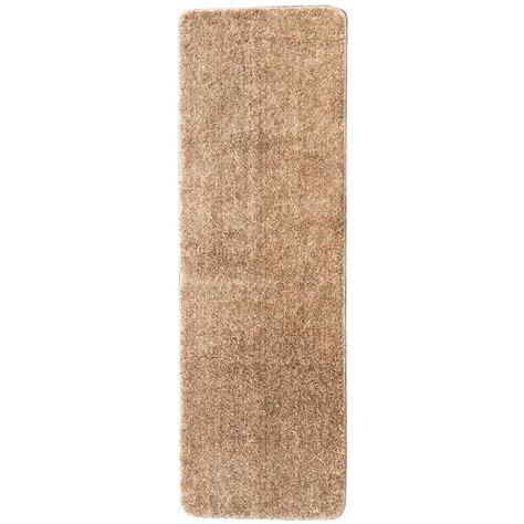 shaggy collection rugs ottomanson luxury shaggy collection shag solid design camel 2 ft 2 in x 6 ft rug runner