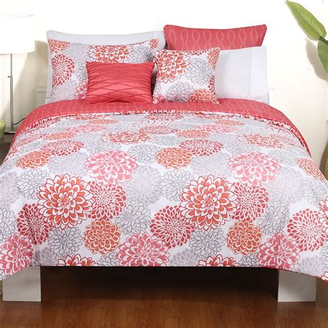coral and gray comforter coral and grey bedding sets home furniture design
