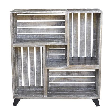 mango wood reclaimed crates bookcase bengal manor