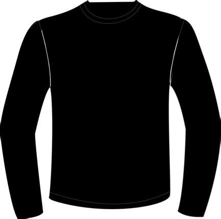 Men Long Sleeve Template Black Sleeve Shirt Template