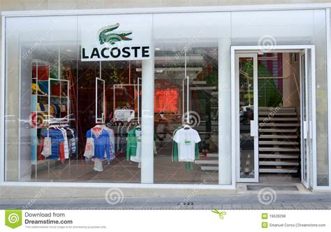printable coupons lacoste outlet lacoste shop paris editorial stock photo image of