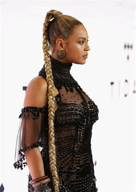 beyonce hairstyles games beyonc 233 s hologram and fresh performance at tidal x 1015 a