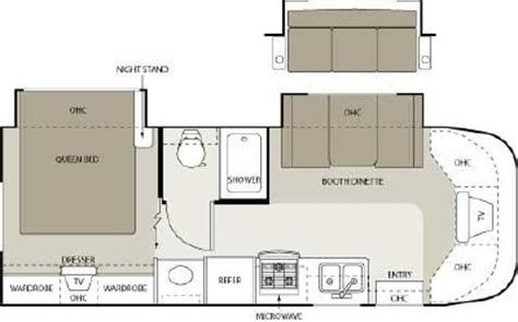 four winds rv floor plans 2006 four winds siesta 26be floorplan