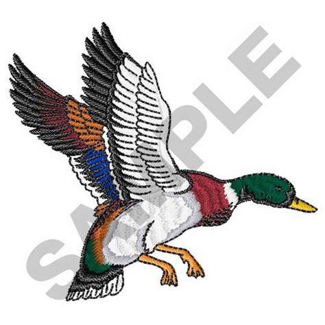 embroidery design duck flying mallard duck embroidery design annthegran
